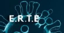 Dibujo del COVID con la palabra ERTE